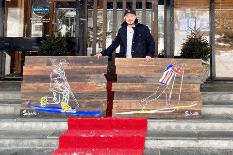 RØD LØPER: Lørdag blir det street art, konsert og rød løper på Gaustablikk hotell. Rune Francisco Fauske står for bildene.