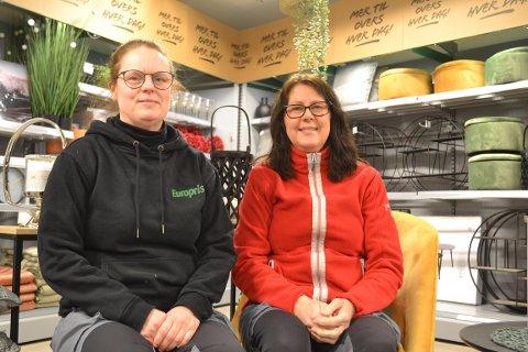 Heidi Hagadokken (assisterende butikksjef) og Gunn-Laila Nilsen (eier og butikksjef).