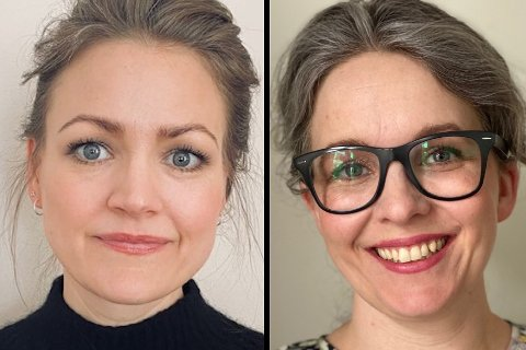 Kommuneoverleger i Vestvågøy Eva Kibsgaard Nordberg (f.v.) og Øydis Hana.