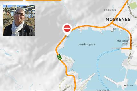 Ordfører Lillian Rasmussen sier det blir en annerledes 17. mai i Moskenes, etter steinraset over E10 mandag morgen.