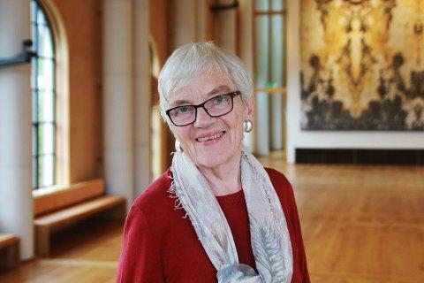 Kari Wærness fra Leknes under utnevnelsesseremonien til ridder av St. Olavs Orden i 2017.