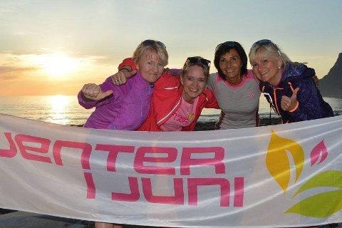 Arrangørene bak Jenter i juni: F.v. Tove Westgaard, Linda Vibakk, Siv Arntzen og Rita Iren Nordheim. Bildet er tatt i 2019.