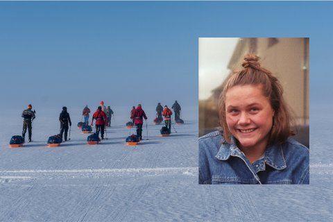 SA NEI TIL DRØMMESTUDIET: Guro Sandvin Groven valgte å takke nei til drømmestudiet for å gå Norge på langs. – Å velge bort et prestisjepreget studie for å gå på ski i noen-og-hundre dager føles veldig riktig og veldig feil på samme tid, sier hun.