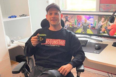Treningssenter-gründeren og direktøren Mats Ola Martinsen (32) har flyttet hjem til Vestvågøy. Han har hus i Steinfjorden og kontor på Unstad.