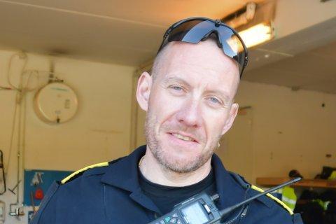 Politioverbetjent Thomas Thomassen ved Vest-Lofoten lensmannskontor.