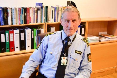 Lensmann Asbjørn Sjølie ved Vest-Lofoten lensmannskontor.