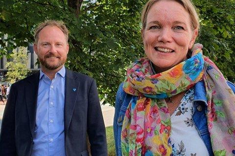 Remi Solberg, ordfører i Vestvågøy kommune og politisk leder av Lofotrådet, og Ingrid Slungaard Myklebust, klimarådgiver i Lofotrådet, har laget podcast om «Lofoten – De grønne øyene».