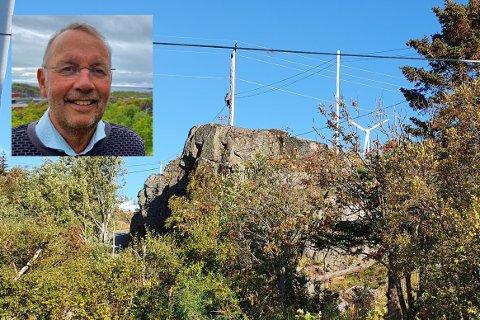 LOKAL REODOR FELGEN: Pål Krüger (innfelt) har satt i gang vindturbinen i hagen. Nå inviterer han på visning.