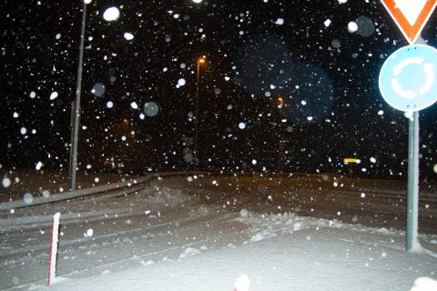 SNØ: Som dette blir det neppe, men det kan inn i Agder, mot Audnedal komme opp mot 15 centimeter snø lørdag og søndag. I lavlandet snakker vi regn.