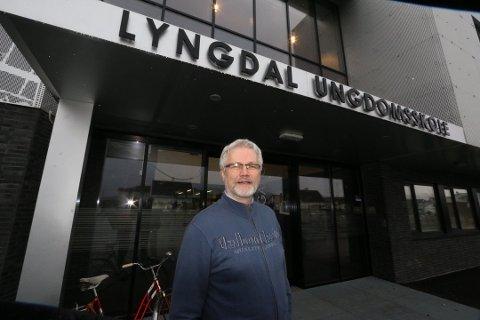 HAR SAGT OPP: Rektor Richard Aardal har sagt opp jobben som rektor ved Lyngdal ungdomsskole. Aardal er for tiden sykmeldt fra stillingen.