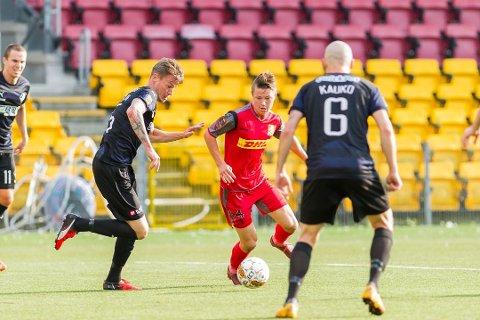 NORDSJÆLLAND: Mathias Rasmussen fra Lyngdal stortrives i den danske superliga-klubben Nordsjælland.