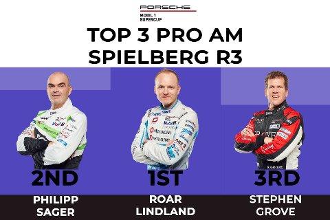 NUMMER EN: Roar Lindland vant den tredje runden i Porsche supercup.
