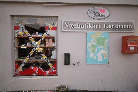 TRE GANGER: Bare i desember hadde nærbutikken i Korshamn innbrudd eller innbruddsforsøk tre ganger. Politiet sier de prioriterer saken.