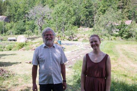 SENTRALE PERSONER: Arne Georg Smedslkand og Helle Q. Ringereide har vært sentrale i arbeidet med prosjektgruppa. Nå fortsetter de i interimstyret for Dalstroka Lokalmat SA.