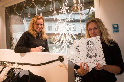 PROSJEKTET: Gunnhild Campbell Åsly på jobb i Lyngdal. Silje Torsøe i Stella Shop selger prosjektet som Flekkefjord ikke vil støtte med penger.