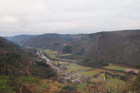 NYDELIG UTSIKT: Fra toppen er det nydelig utsikt.