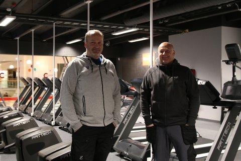 GLEDER SEG TIL ÅPNING: Eiere og drivere av Bare trening, Ingvar Orten og Sindre Seberg gleder seg til lyngdølene kan ta i bruk det flotte treningssenteret i Handelsparken.