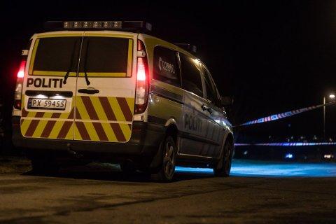 REPARERES: Politiets cellebil måtte repareres for 2500 kroner etter kvindølens spark.