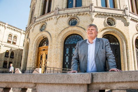 ALL MAKT: Hans Fredrik Grøvan ga klar beskjed omk at Stortinget fortsatt er landets høyeste organ!