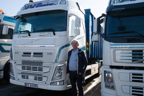 OVERSKUDD: Olav B. Løland er glad for at Agder Veitransport går i pluss etter noen tunge år. Nå håper han prosjekter som E39 utbygging og potensiell næringspark vil gi flere jobber i transportbransjen.