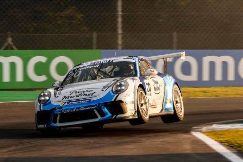 FART: Det gikk unna for Roar Lindland under kvaliken på Monza lørdag.
