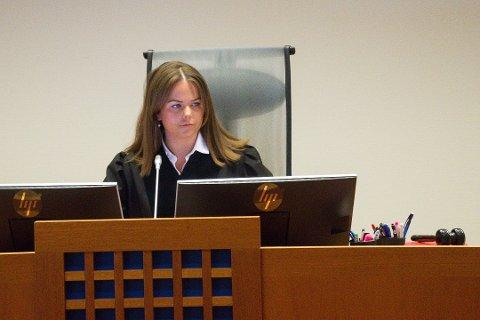 SAMFUNNSSTRAFF: Dommerfullmektig Line Heimdal Oaland ledet saken der en lyngdøl i Lister tingrett ble dømt til 90 timers samfunsstraff for en omfattende tiltaleliste.