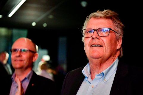 VALGVAKE: Hans Fredrik Grøvan på Kristelig Folkepartis valgvake på Vulkan Arena i Oslo på valgdagen i høst.
