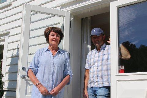 DRØMMEPLASS: Gerd Irene og Arne Stangeland har lagt ned mye tid og arbeid for å lage drømmeplassen i Jåsund.