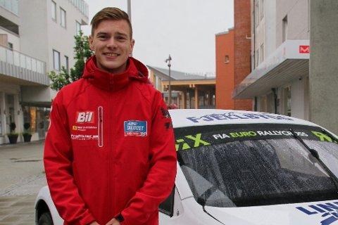 KJEMPEFORNØYD: Sivert Svardal fra Konsmo kunne ikke drømt om en bedre EM runde enn hva han har klart å prestere denne helga.