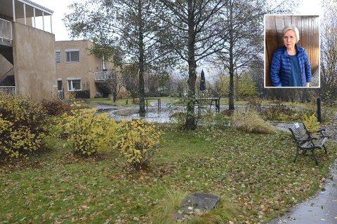 Leder i Venneforeningen til Lillehammer helsehus, Britt Bøhn har gjort mye for sansehagen.