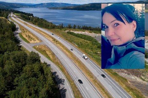 Her på E6 sør for Lillehammer stod Ninia Kristiansen i en nødlomme tirsdag kveld.