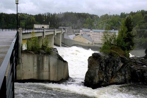 VAMMAFOSSEN: Vamma er blant kraftstasjonene i Østfold som produserer energi.