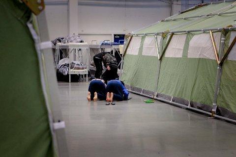 Ankomstsenteret i Råde er i gang, og alle sengene i senteret er i bruk.
