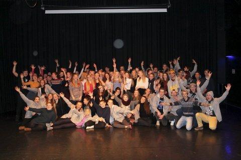 Klare for konsert: Nesten hundre elever fra Kirkeparken er involvert i konserten den 7. januar.