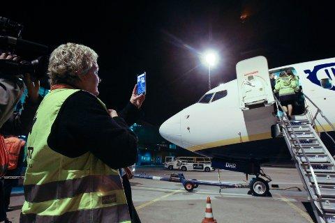 Siste dag på Moss Lufthavn Rygge. Inger Johanne Granli har jobbet på flyplassen fra start, og var til stedet da det siste passasjerflyet forlot Moss Lufthavn Rygge lørdag.