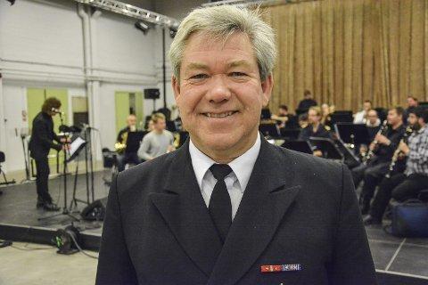Holder marinemusikkens kurs stødig: Terje Gravningsmyhr fra Moss, spår ikke store forandringene med ham selv i sjefsstolen. Foto: TRUDE BRÆNNE LARSEN