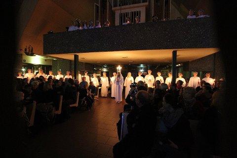 Fra fjorårets lucia-konsert i Jeløy kirke.