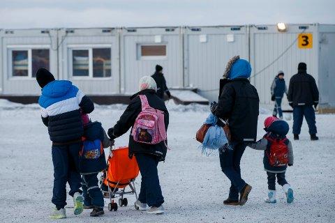 FLYKTNINGER: Moss og Rygge er blant de kommunene som er bedt om å ta imot flyktninger i 2018. Her fra ankomstsenteret i Kirkenes i 2015.