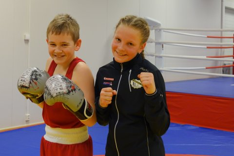 VANT: Julie Enge (12) og Emil Bye Eriksen (12) presterte godt i helgen.