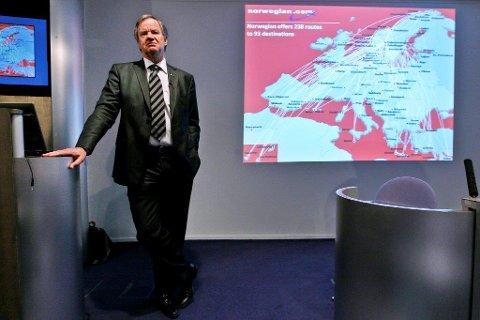 Tror det er slutt: Etter Rygge-nedleggelsen tror Bjørn Kjos i Norwegian at også Torp kan bli nedlagt.