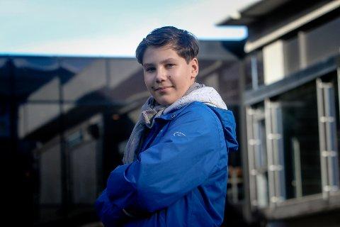 PÅ SCENEN IGJEN: Sebastian Akselberg (12) synger for en finaleplass i Norske talenter førstkommende fredag.