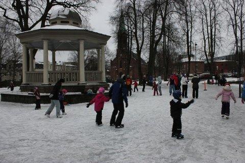 Skøyting i Moss sentrum, her fra 2012.