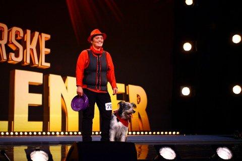 Fredag skal Marianne Methi og hunden Vega kjempe om en finaleplass i Norske talenter.