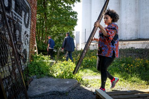 GJENBRUK: Forberedelsene til Nordisk biennale for samtidskunst, Momentum 2017 er i full gang. Abigail Deville fra New York er en avkunstnerne.