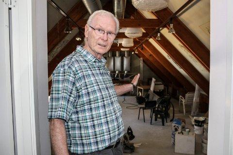 - I annen etasje blir det minikjøkken og møte- eller selskapslokale som kan leies, sier Arild Nilsen.