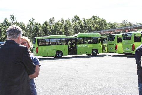 KOMMER NÅ: Slik ser de nye gassbussene til Nettbuss ut.
