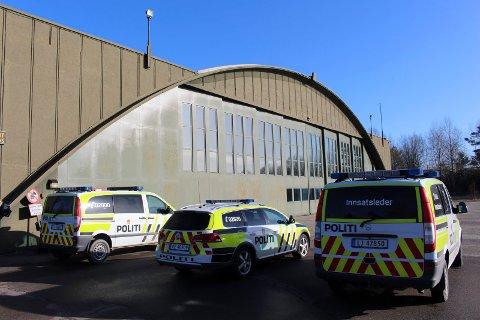 HANGAR: Politiet har allerede etablert seg i en hangar på Rygge. Nå får de skytebane.