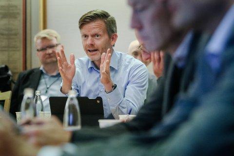 MILJØLØFT: Tage Pettersen (H) i et møte i styringsgruppa for det som nå heter Miljøløftet Moss tilbake i 2017.