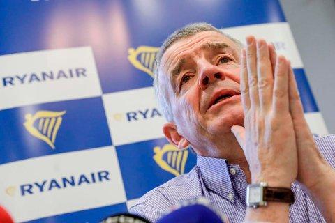 NEDGANG: Ryanair-sjef Michael O'Leary opplyser at de to svakeste markedene er Tyskland og Storbritannia.