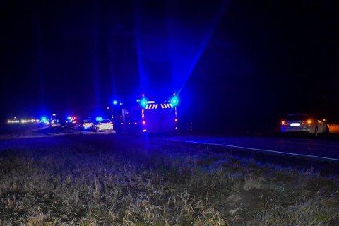 Ulykken skjedde sør for Elvestad lørdag kveld.